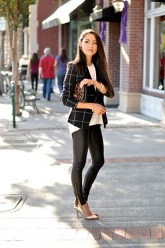 structure and geometric prints with leggings