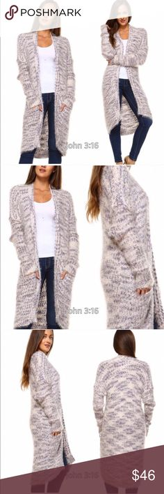 Fuzzy long cardigans Fall/winter must have - thus open fury and plush cardigan sweater is amazing...so side and will keep you warm. 55% ramie 45% cotton - price is firm✔️ Boutique Sweaters Cardigans