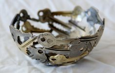 Small key bowl 20, Key bowl, Metal sculpture ornament. $45.00, via Etsy.