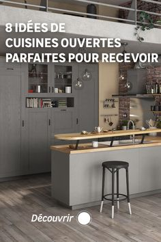 Lorsqu'on aime recevoir, la cuisine ouverte peut être une parfaite alliée ! Cloison semi-ouverte, comptoir, bar ou îlot, il y a mille manières d'agencer une cuisine conviviale. Découvrez notre sélection d'idées astucieuses pour recevoir famille et amis aussi souvent que vous en avez envie. Mille, Moment, Furniture, Home Decor, Bar Stand, Compact Kitchen, Warm Kitchen, U Shaped Kitchen, High Chairs