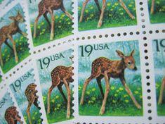 Doe A Deer... Unused Vintage Postage Stamps ... by LoveThePostage