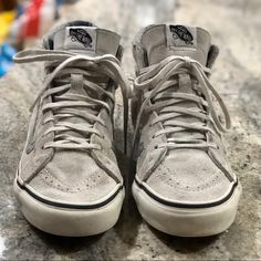a36a468f1d46f1 Shop Women s Vans Gray size Sneakers at a discounted price at Poshmark. Vans  HiTop ...