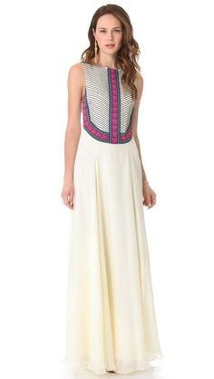 Mara Hoffman Beaded Gown    http://www.shopbop.com/beaded-gown-mara-hoffman/vp/v=1/1555248872.htm    #wedding