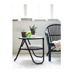 NIPPRIG 2015 Apupöytä - musta/luonnonvärinen - IKEA