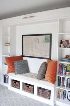 how we gave our home office an expensive builtin library look with a billy ikea hack on a budget