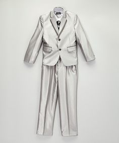 Love this Silver Five-Piece Suit Set - Toddler & Boys by Dino on #zulily! #zulilyfinds