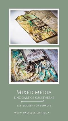 Mixed Media bedeutet seiner Kreativität absolut freien Lauf zu lassen 😍 Genau das haben wir bei diesem Schild im Vintagestil gemacht. Wir haben die verschiedensten Materialien, Formen, Farben und Techniken kombiniert. So wird aus jedem Stück ein Unikat - wie wird deines ausschauen? 😋  Anleitung und Materialien findet ihr bei uns 😊