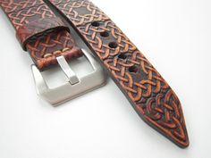 Hnědý+pásek+na+hodinky+24mm+II+Šírka+24mm+Dĺžka:+podľa+želania+Materiál:+koža+Vyrobím+podľa+požiadavky.+Potrebujem+Váš+obvod+zápästia.