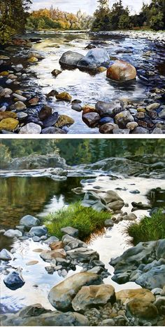 New painting landscape acrylic ocean ideas Watercolor Water, Watercolor Landscape Paintings, Landscape Drawings, Abstract Watercolor, Landscape Art, Landscape Photography, Nature Photography, Landscapes, Water Art