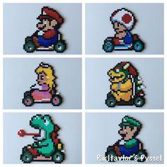 Dags att pimpa ytterdörren del 3: Mario Kart! Efter mönster från Pintrest #mariokart #supermario #mario #mariobros #yoshi #toad #princess #bowser #luidgi #pixelart #pixelkonst #pärlplatta #pärlplattor #nintendo #hama #hamabeads #perlerbeads #perler #fusebeads