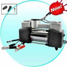 Twin Cylinder Car/Outdoor Equipment Air Compressor - 13.8V, 150PSI