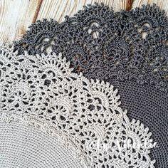 Crochet Borders, Doilies, Fancy, Farmhouse Rugs, Napkins, Crochet Carpet, Ornaments, Crocheting, Tejidos