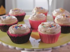 Old-Fashioned Cupcakes with Peanut Butter Frosting