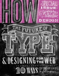 so beauteous!!  Typeverything.com - How Magazine July2012 cover... - Typeverything