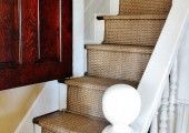 Indoor Outdoor Stair Runner from two 63 dollar runners and a staple gun.