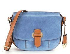 d85ad2389620dc Michael Kors Messenger Denim Romy Medium Blue Suede Bag NWT $378.00 # MichaelKors #MessengerCrossBody Large