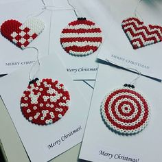 Christmas cards hama perler beads by geekofmine … Perler Bead Designs, Hama Beads Design, Hama Beads Patterns, Beading Patterns, Christmas Perler Beads, Art Perle, Peler Beads, Iron Beads, Melting Beads
