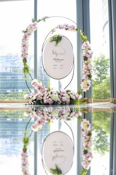 The Best Pink And Green Wedding Ideas – MyPerfectWedding Wedding Stage, Wedding Signs, Wedding Cards, Wedding Ceremony, Dream Wedding, Ceremony Backdrop, Ceremony Decorations, Arco Floral, Unique Wedding Gifts