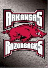 ARKANSAS RAZORBACKS POSTER ~ LOGO 4259 NCAA 22x34 University College Sports   eBay