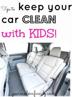 keep your car clean with kids