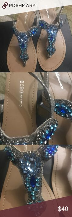 Gorgeous BCBG sandals! Like new These are absolutely stunning  ❤️ wore for like a hour but too tight for me! I'm a 8 and bought these hoping I can squeeze my feet in!! BCBG Shoes