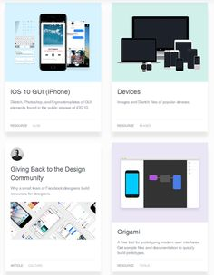 #FacebookDesign is a collection of articles, videos, and resources made by designers at Facebook. There are articles on things like giving back to the design community and creating your own DIY design education, resources that include GUI kits and prototyping tools, and videos about design, prototyping, and more.