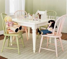 Paint kids table white
