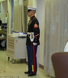 Indiana: 12-Year-Old Boy Made Honorary Marine Before Succumbing To Cancer-Related Infection, Local Marine Stands Guard At His Hospital Door Entire Night Before He Passed Away…    12-year-old Cody Green has always admired the strength and courage of the Marines. At 12:35 Saturday afternoon, it was the Marines admiring the strength and courage of Cody.