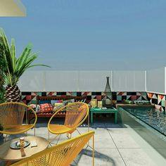 Inspiração ♡ #interiores #design #interiordesign #decor #decoração #decorlovers #archilovers #inspiration #ideias #areaexterna #exterior #outdoor #terraço