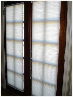 window coverings for glass front doors | Tag Archives Window Treatments French Doors & Like the lace curtains on the doors. | House ideas I love ...
