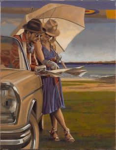 Everyday's Another Adventure. Peregrine Heathcote. Oil on canvas
