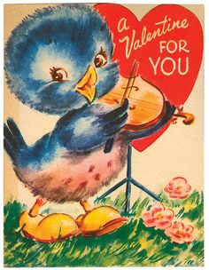 Very Merry Vintage Syle: Vintage Valentine Card Images & Decor {Link Up Above!}
