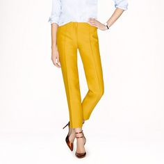 Collection wool-silk cropped pant $325