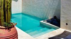 Adobe stucco backyard oasis