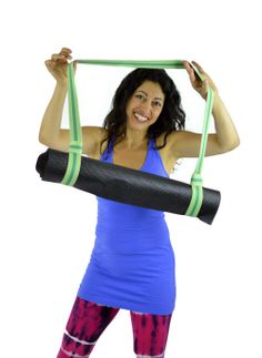 Carry your yoga mat in style with a fun YOGAband from Truth Belts. Available in many different patterns and styles that will make you smile! $20.00