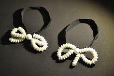 * bracelet Elsa Triolet 1931 pâte de verre métal velours pour Madeleine Vionnet