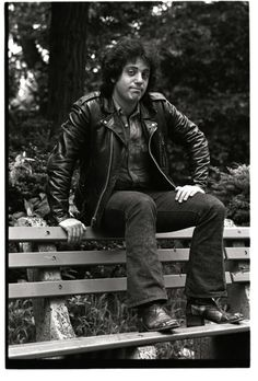 Billy Joel, born May 9, 1949, first Columbia Records photo shoot, July 1973, Central Park, New York City.