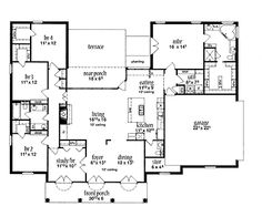 Floor Plans On Pinterest Square Feet Floor Plans And Home Plans