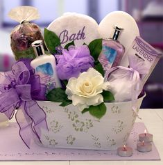 Creative DIY mothers day gift baskets ideas to bring smile on your mother's face.Make spa basket,hand and feet care basket,baking basket etc