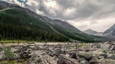 Consolation Lakes And Boulders by Joan Carroll #Consolation #Banff #Canada