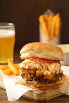 Bring a little bit of Pittsburgh home to your kitchen with The Pittsburger - homemade burgers topped with coleslaw and French fries, inspired by Primanti Brothers in Pittsburgh.