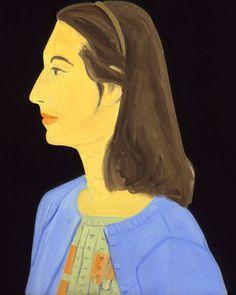 Ada in a Blue Sweater, Alex Katz, 1959