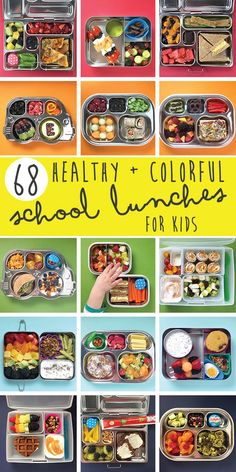 68 Healthy + Colorful School Lunches for Kids / From Baby Foodie! <3