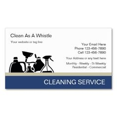 Blue Water Bubbles Cleaning Service Business Card House Cleaning