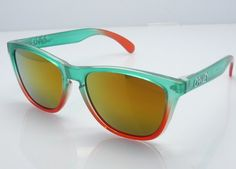 Oakley Frogskin Sunglasses Inexpensive Polished Light Green/Coral