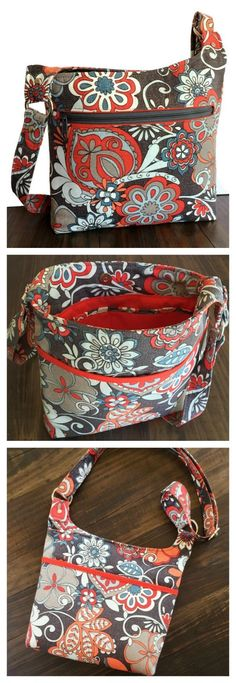 This Hipster Purse is named The Vanessa Bag. With its slim, lightweight crossbody design this purse accommodates all of your essentials without weighing you down. Deco Cuir, Hipster Purse, Sewing To Sell, Diy Handbag, Bag Patterns To Sew, Diy Purse Patterns Free, Quilted Purse Patterns, Patchwork Bags, Sewing Patterns