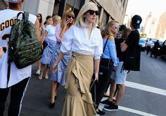 Jane Keltner de Valle in Céline skirt  Phil Oh | Vogue | Street style | New York Fashion Week