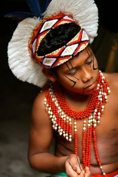 Native Pataxo child in Caraíva, Bahia, Brasil.