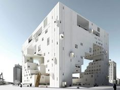 Very imaginative. This failed bid to the Taipei Performing Arts Center by NL Architects was likely it's most imaginative, but also its most costly.  NL Architects dreamed up this cubic design with a hollow center, providing for a terraced internal structure and a 1,500 seat grand theater.