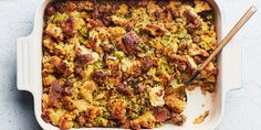 Our Favorite Thanksgiving Stuffing With Sausage and Cornbread recipe | Epicurious.com